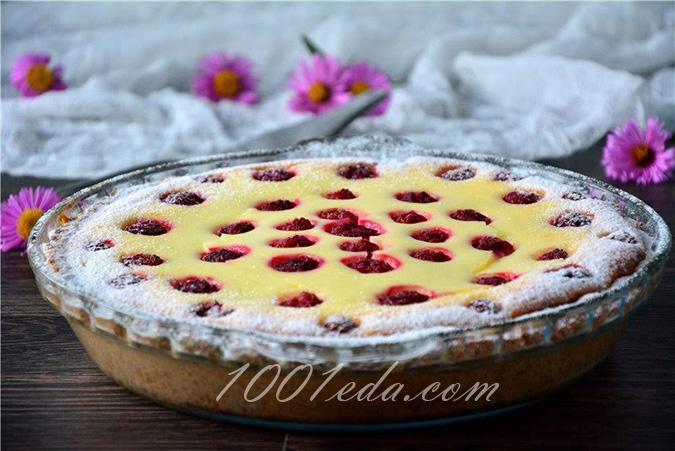 Пирог с малиной и творогом рецепт пошагово в духовке