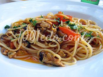 Макароны с морепродуктами – кулинарный рецепт