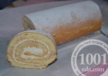лучшие рецепты бисквитного рулета по госту