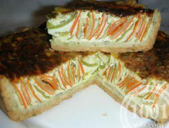 Овощной пирог рецепт пошагово