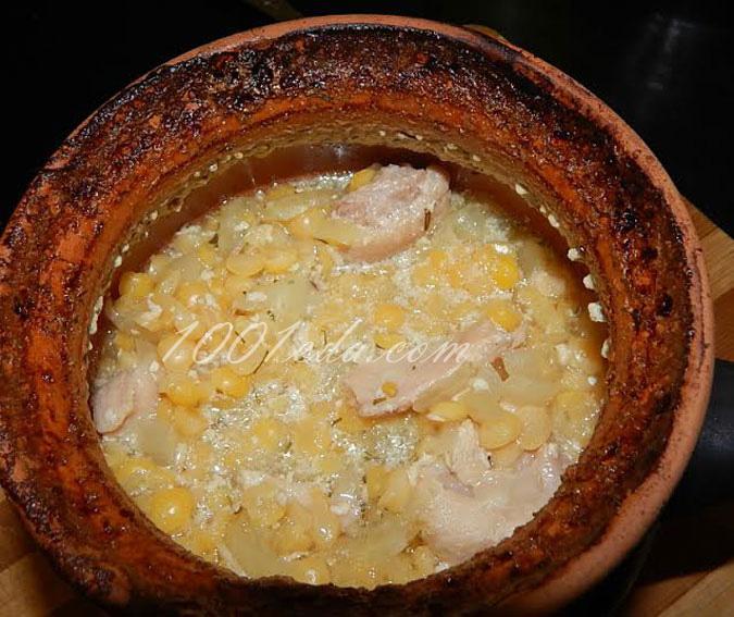 гороховая каша рецепт с копченой курицей