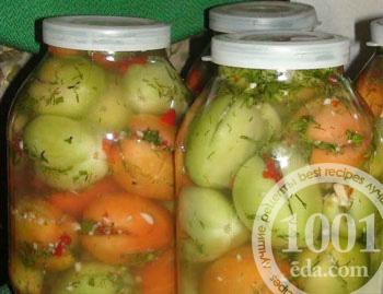 Из зелёных помидор на зиму пошаговый фото рецепт