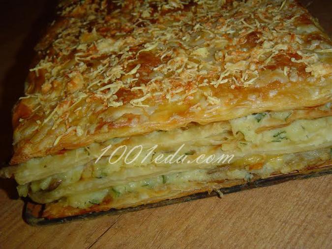Наполеон с зеленью, пошаговый рецепт с фото