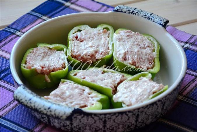 Фаршированные перцы в духовке пошаговый рецепт