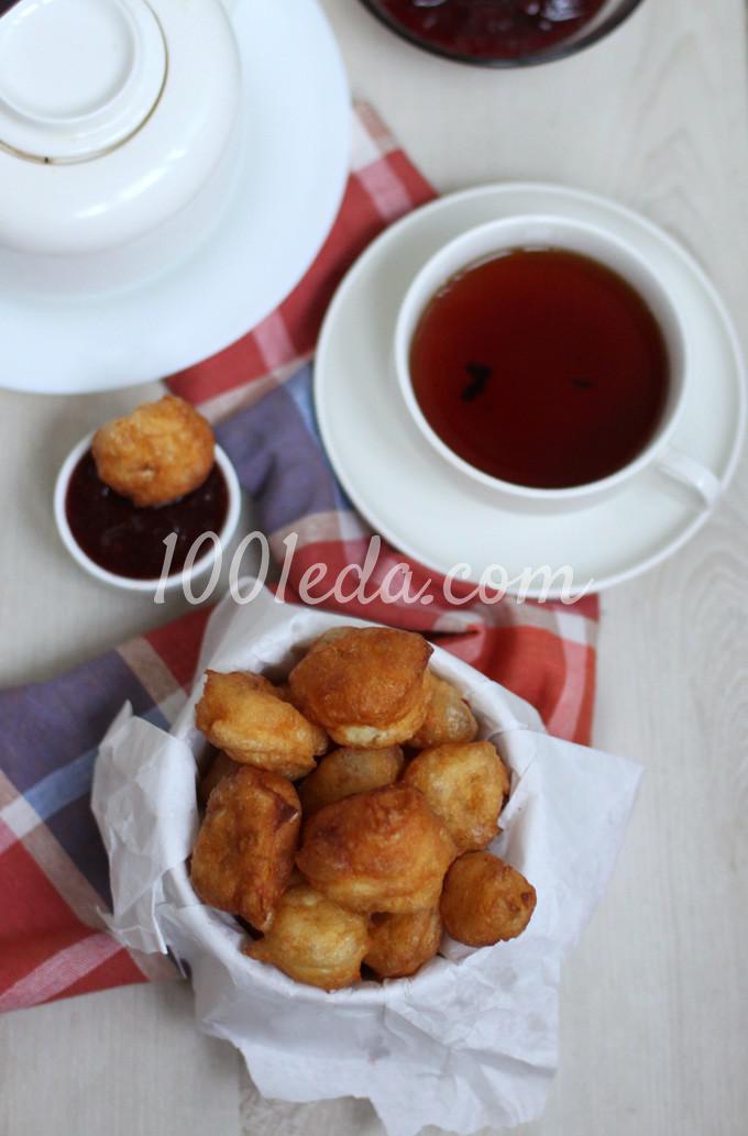 Пончики из заварного теста: пошаговое фото