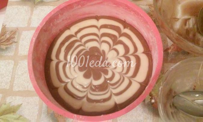 сладкий пирог зебра рецепт с фото