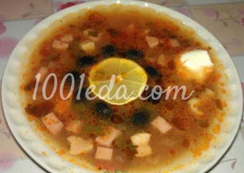 Приготовления суп солянка в мультиварке