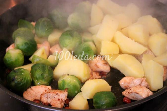 Как пожарить картошку и капусту
