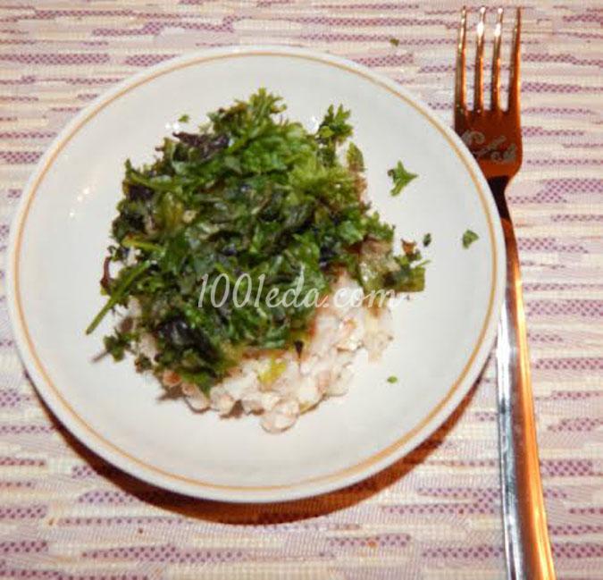 Салат с сайрой и яблоком рецепт с фото