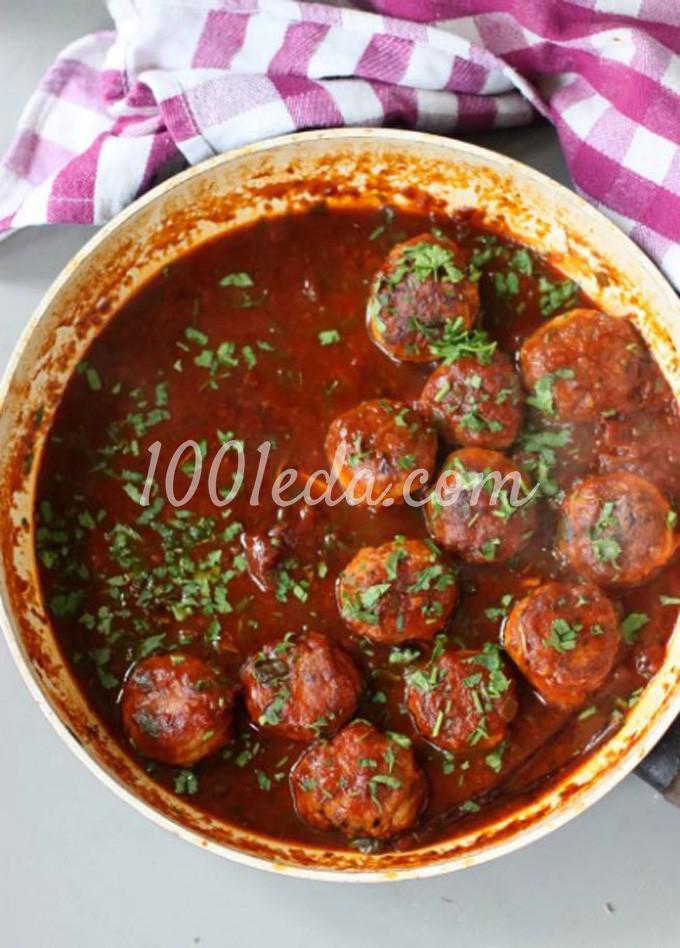 Фрикадельки в томатном соусе со спагетти: пошаговый с фото