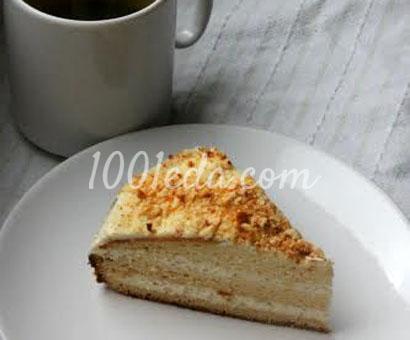Медовый торт с миндально-сметанным кремом