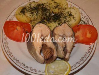 Горбуша на пару с отварным картофелем