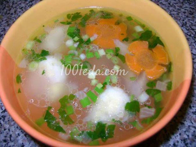 Суп с клёцками со свининой пошаговый рецепт