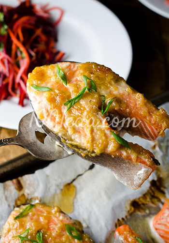 Рыба семга в духовке рецепты с фото