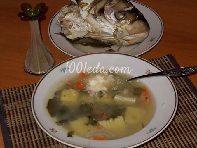 Суп из рыбных голов рецепт с фото