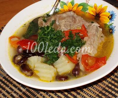 Суп с чёрными бобами: рецепт с пошаговым фото
