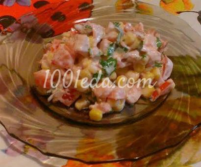 салат без майонеза с курицей рецепт с фото