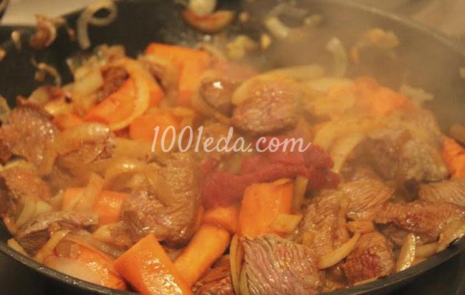 рецепт говядина с морковью в духовке
