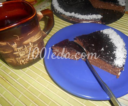 Шоколадный торт со сметанной пропиткой
