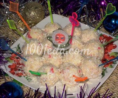 Закуска Дед Мороз в снежках: рецепт с пошаговым фото