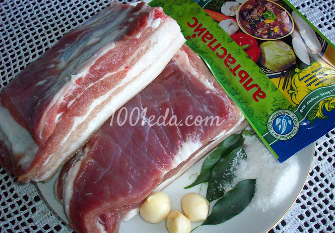 свиная грудинка в пакетах