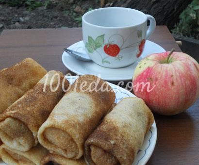 блины с яблочной начинкой рецепт с фото пошагово
