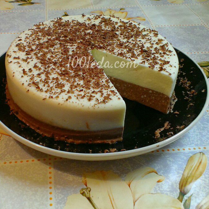 Ванильно шоколадный десерт