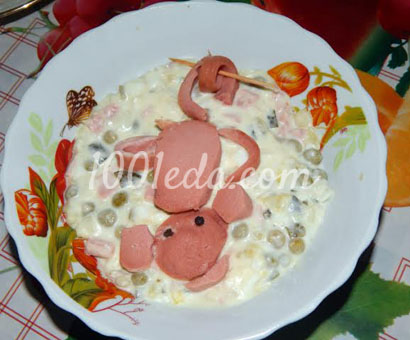Детский салат Обезьянка