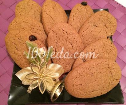 Печенье имбирное с изюмом