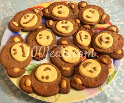 Постное песочное печенье Обезьянки