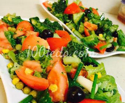 Салат из свежих овощей фантазия