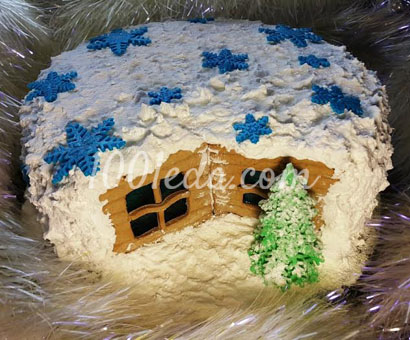 Торт Новогодняя избушка: рецепт с пошаговым фото
