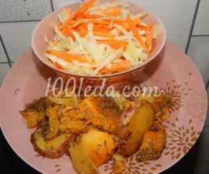 Тыква с картофелем в духовке