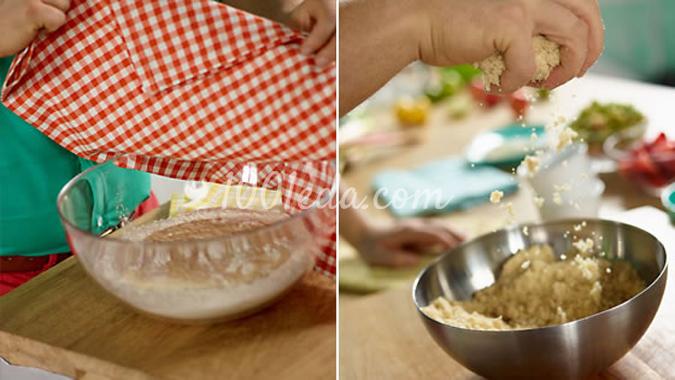 Компот из ревеня и клубники, пошаговый рецепт с фото