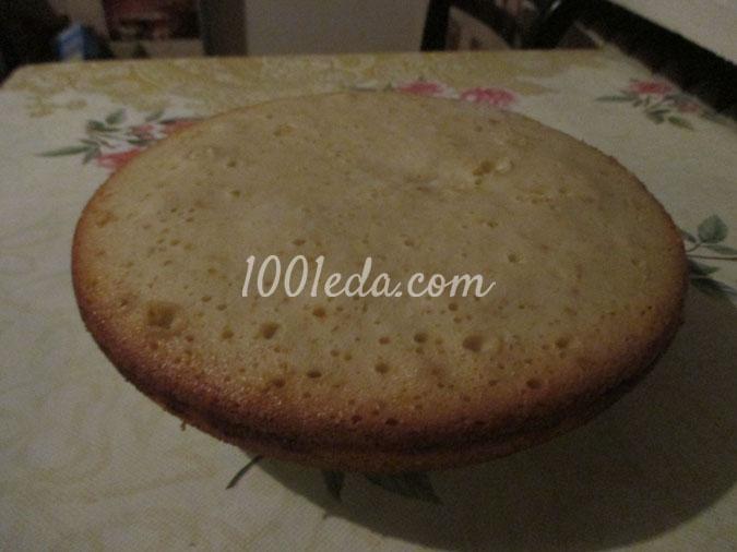 Пошагово приготовить бисквит