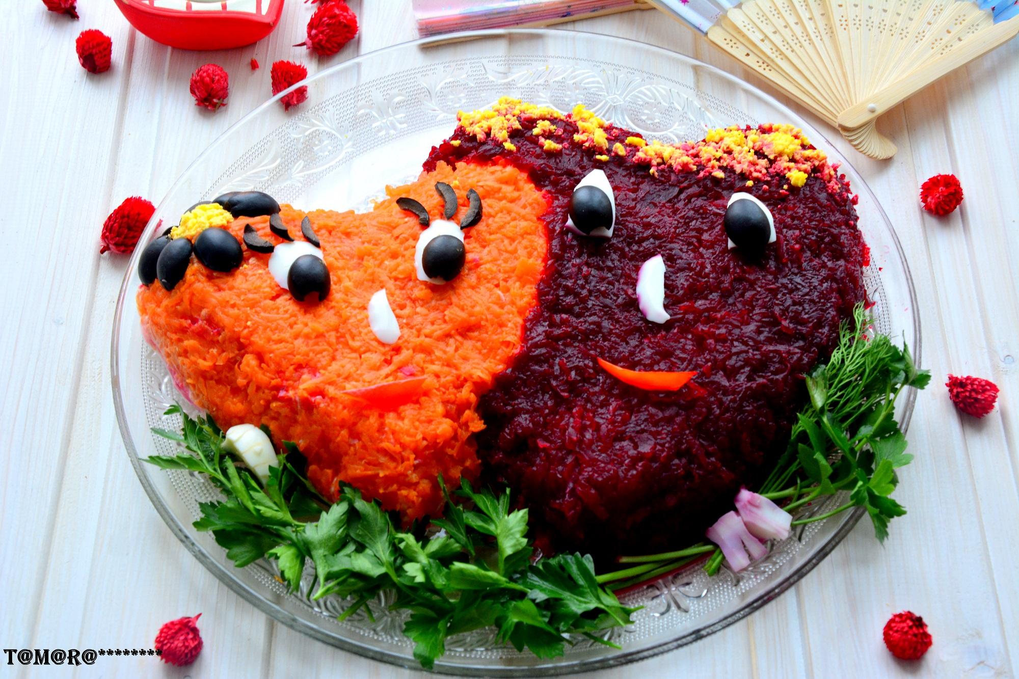 Салаты на день влюбленных с рецепты с