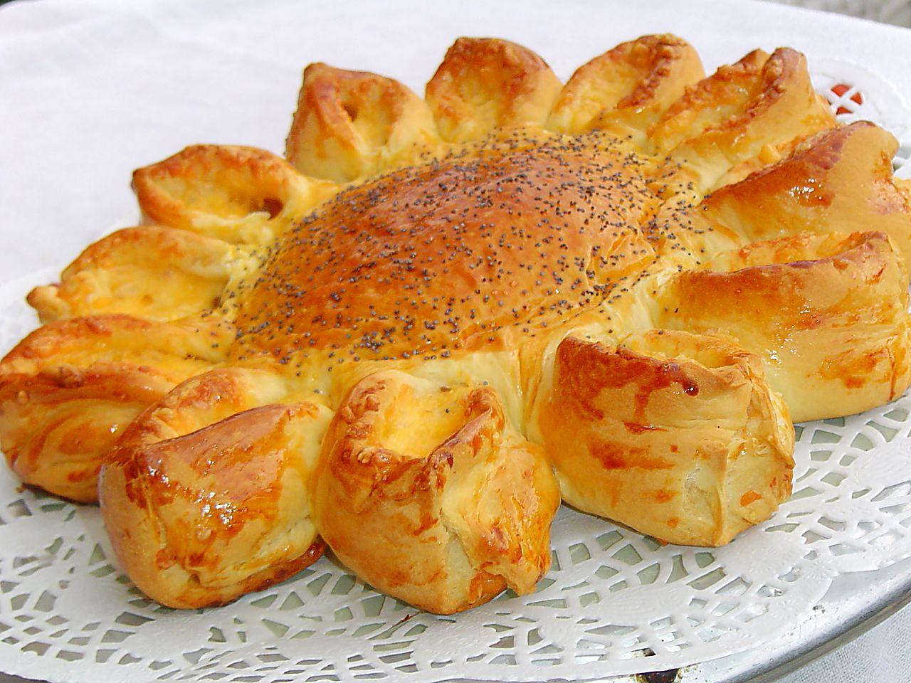 Пирог с мясом цветок рецепт