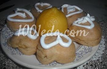 Заварные пирожные с белковым кремом