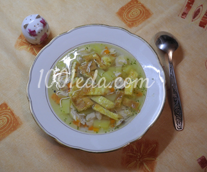 Куриный суп с блинчиками: рецепт с пошаговым фото