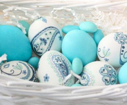 Украшение яиц с салфеткой
