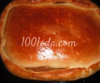 Пирог с капустой и грибами Постный: рецепт с пошаговым фото