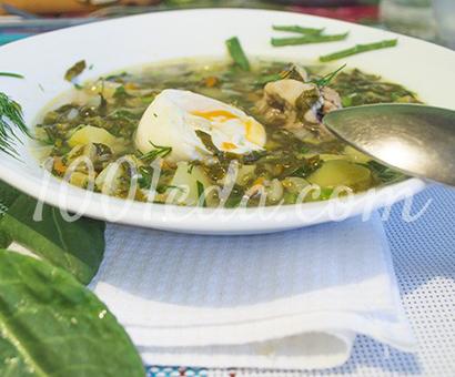 Зеленый суп с яйцом пашот в мультиварке: рецепт с пошаговым фото