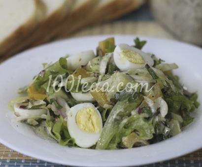 Овощной салат с перепелиными яйцами и двумя заправками: рецепт с пошаговым фото