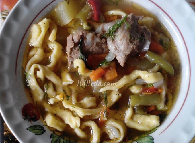 Лапша домашняя с говядиной рецепт с фото пошагово