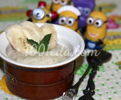 Банановый кремовый десерт для детей