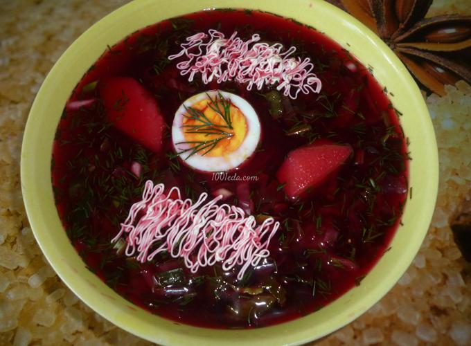 свекольник холодный рецепт с фото пошагово