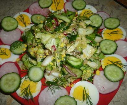 Овощной и сочный салатик с редисом и огурцами: рецепт с пошаговым фото