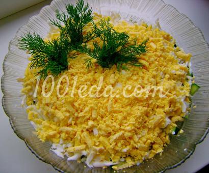 Салат Королевский с курицей, грибами и огурцом: рецепт с пошаговым фото