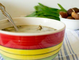 Борщ зеленый с черемшой и белыми грибами: рецепт с пошаговым фото
