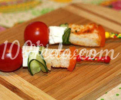 Канапе с овощами и брынзой для детей
